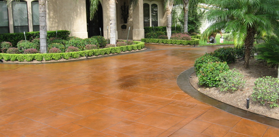 Add Curb Appeal with a Decorative Concrete Overlay