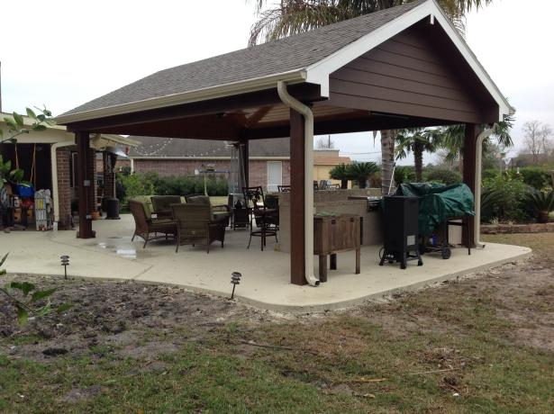 Outdoor Concrete Patio With Fire Pit